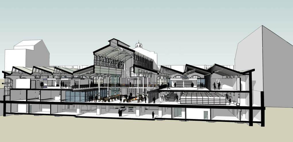 Sự cải tạo Klauzal Market Hall của Zoltàn Kun