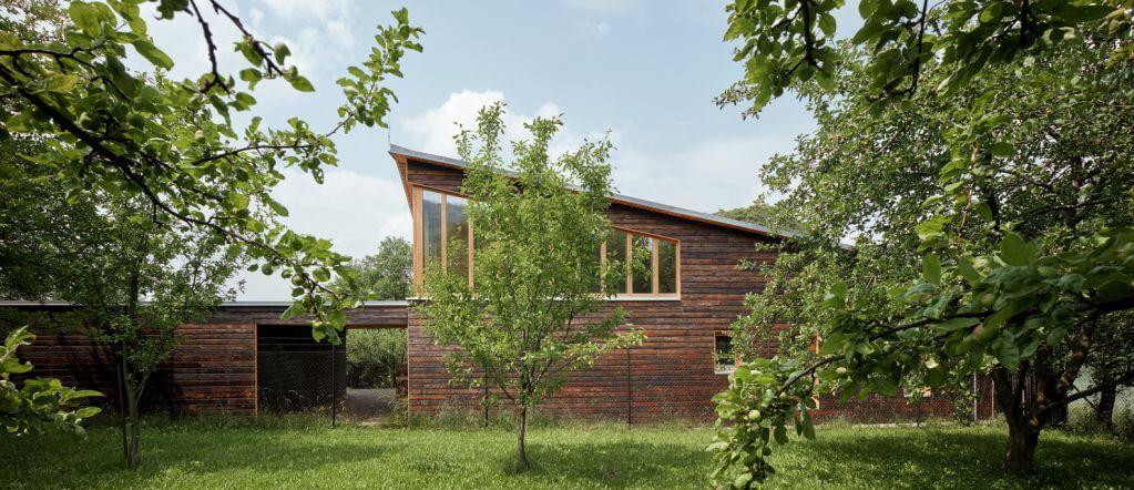 Chestnut House được thiết kế với nhiều cây xanh trong không gian