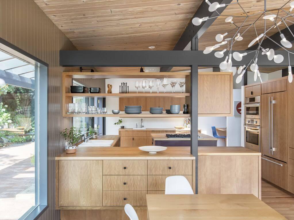Phòng bếp được thiết kế thêm cho không gian