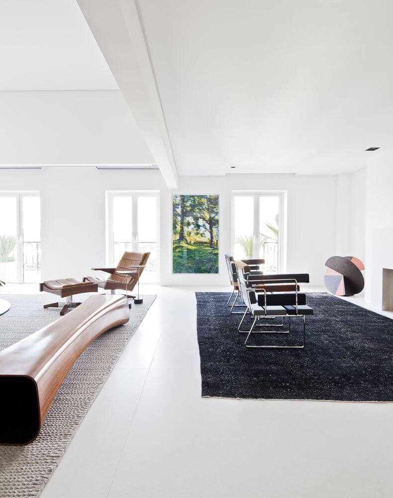 Thảm và vật liệu liệu được sử dụng cho không gian
