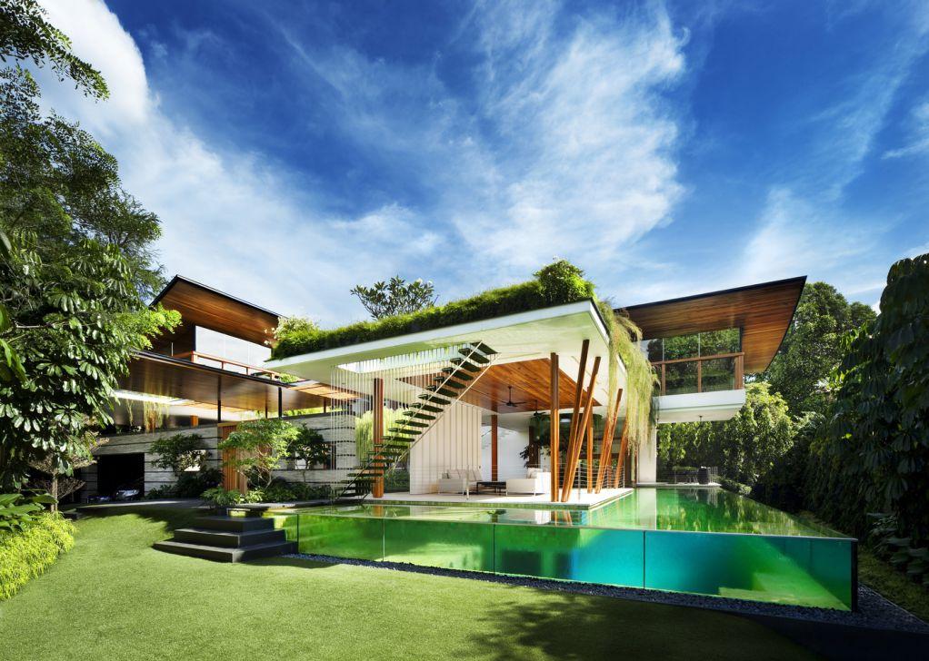 Willow House nằm trên mặt phẳng của khu dân cư yên tĩnh