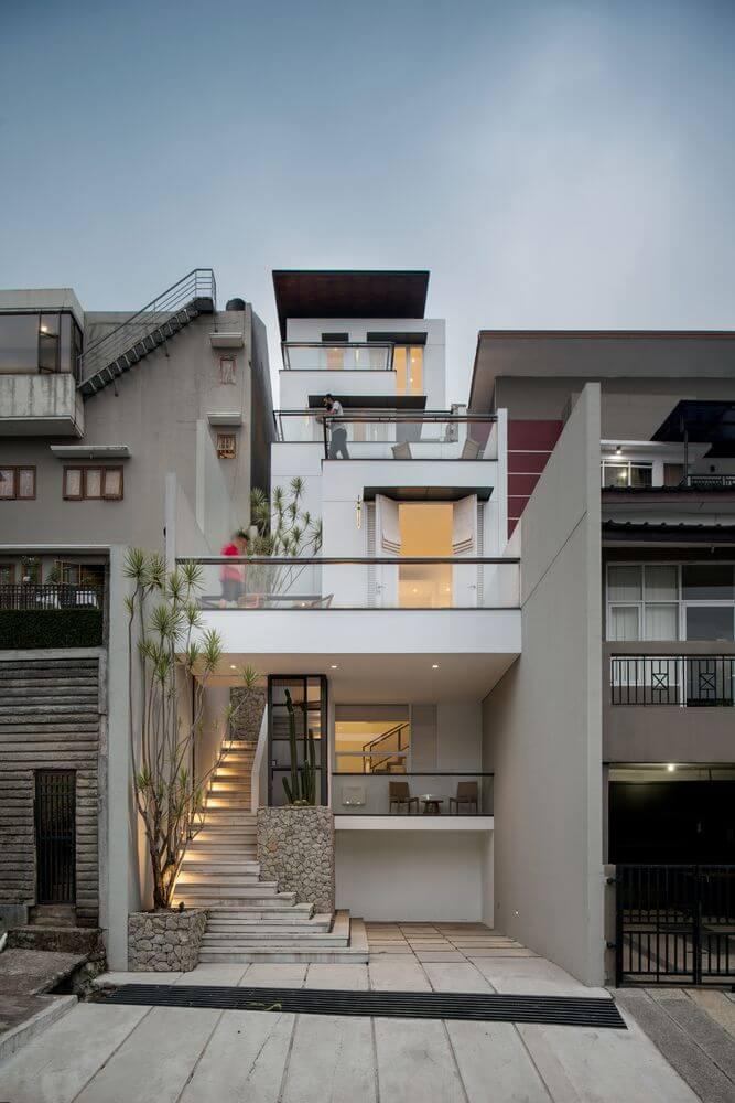 Dự án thiết kế kiến trúc White Cliff House của RDMA Design tại Indonesia