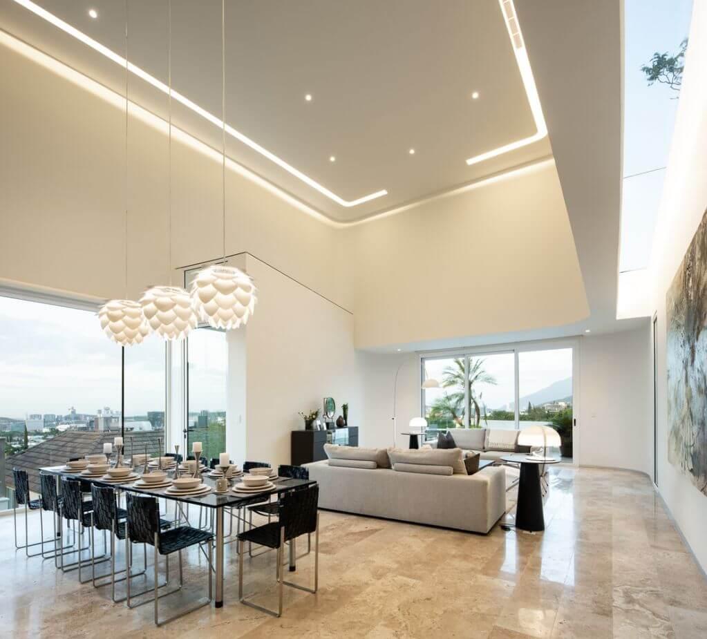 Thiết kế phòng ăn nơi tiếp khách của dự án