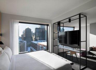 Phòng ngủ cung cấp không gian tầm nhìn tuyệt vời