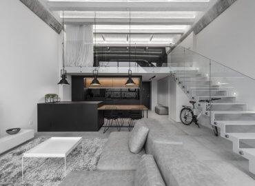 Dự án thiết kế nội thất nhà ở Minimalictic Industrial Loft của ID White