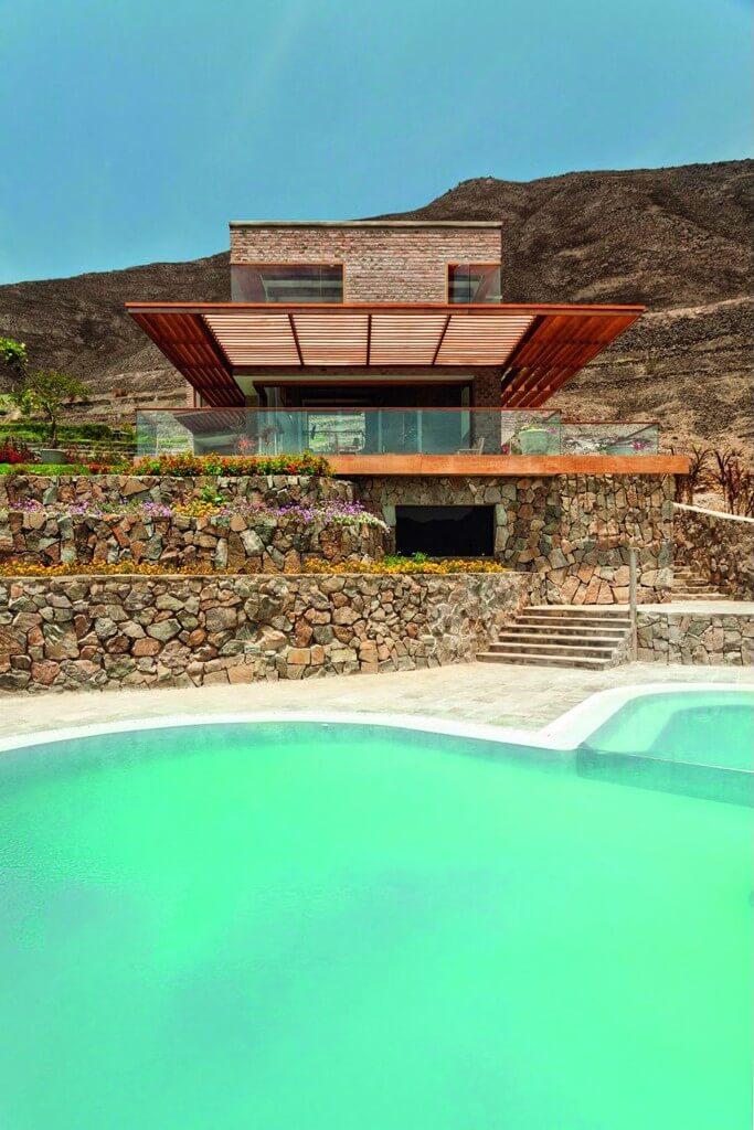 Casa Azpitia được xây dựng trên khu đất cao của thung lũng Azpitia