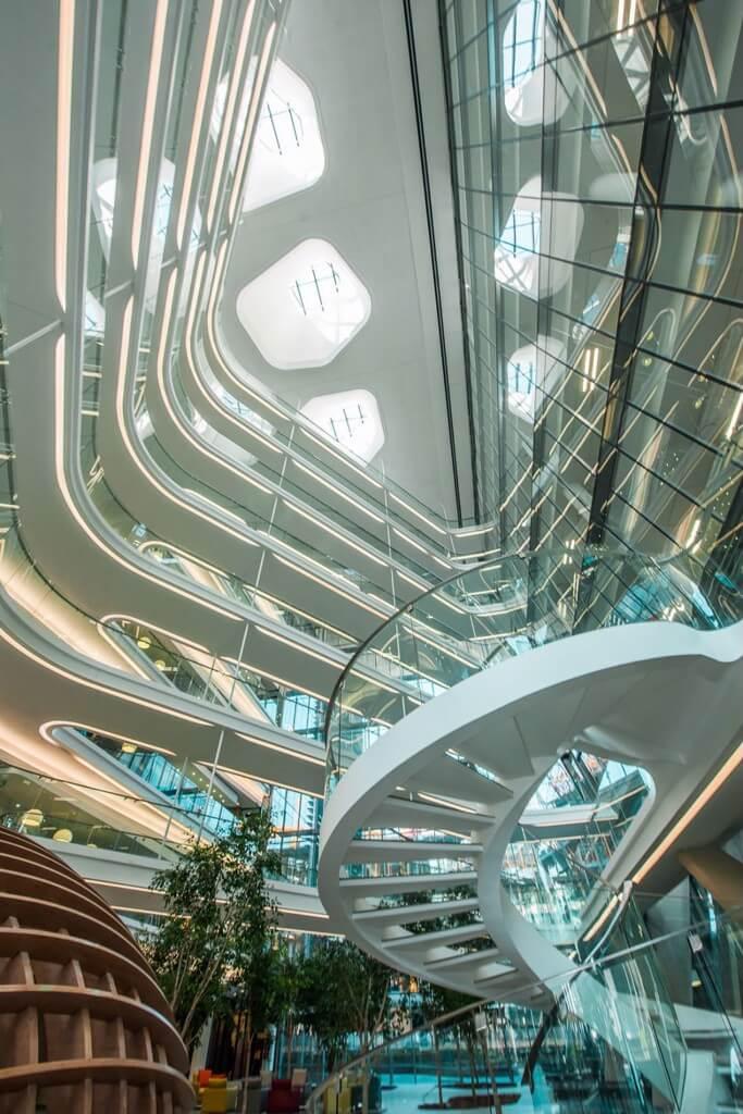 Kiến trúc đầy sáng tạo của không gian bên trong dự án