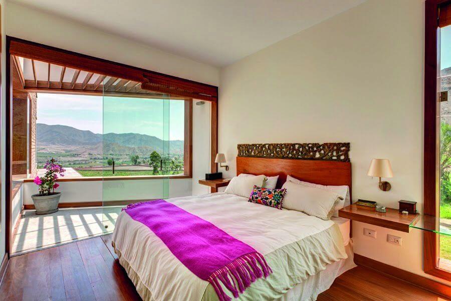 phòng ngủ được sử dụng vật liệu gỗ tự nhiên