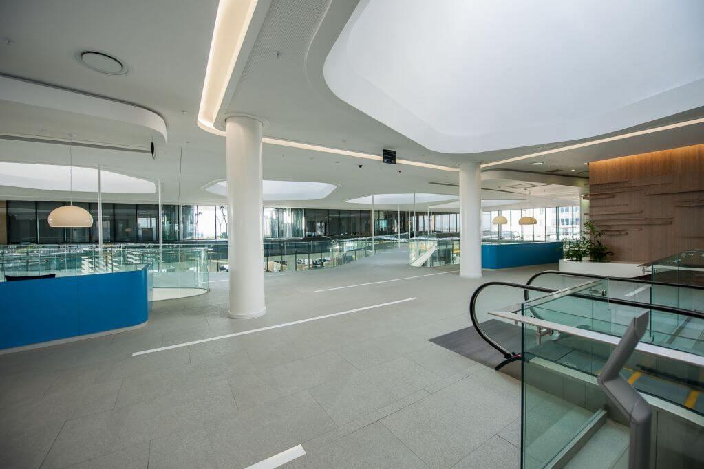 Sàn nhà sử dụng gạch porcelain cao cấp
