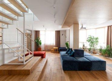 Dự án thiết kế căn hộ L Apartment của Maly Krasota Design