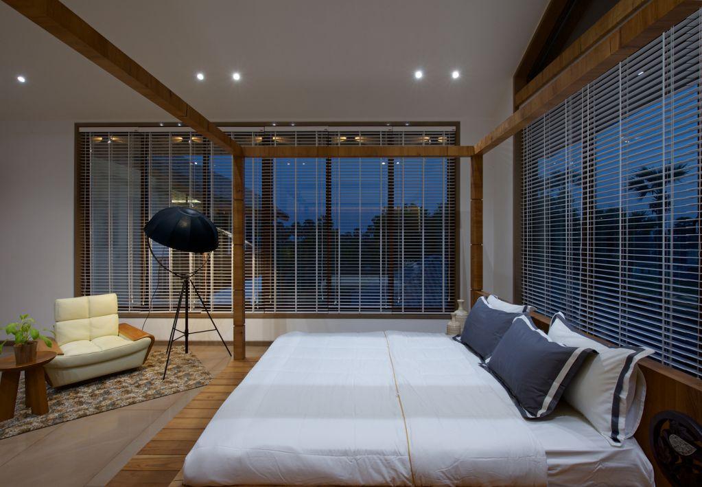 Phòng ngủ được thiết kế trên lầu hai