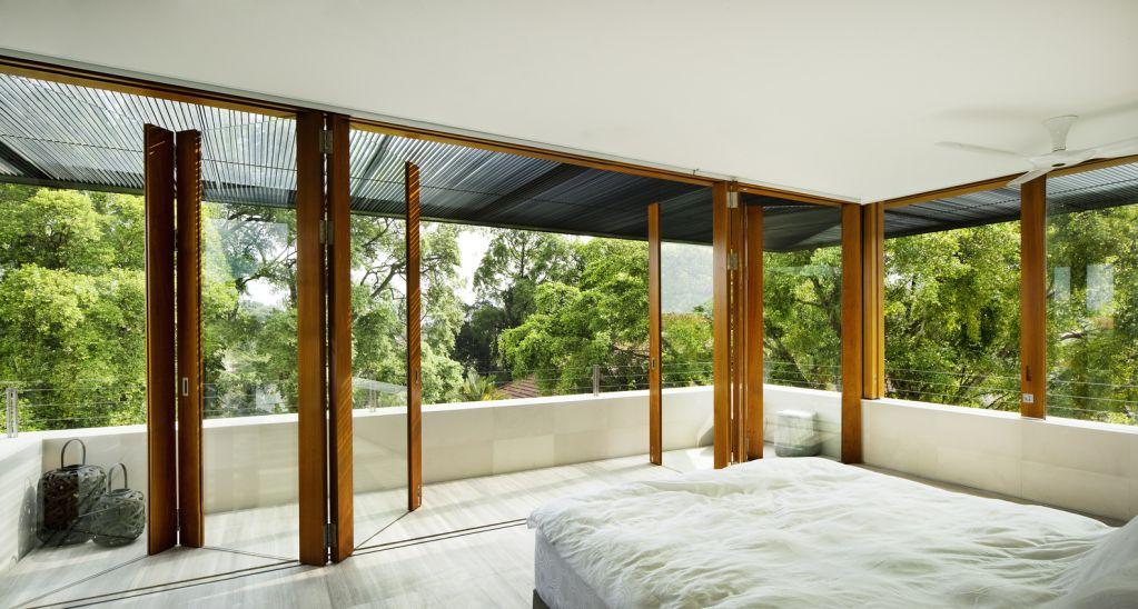 Phòng ngủ được thiết kế trên tầng thứ hai