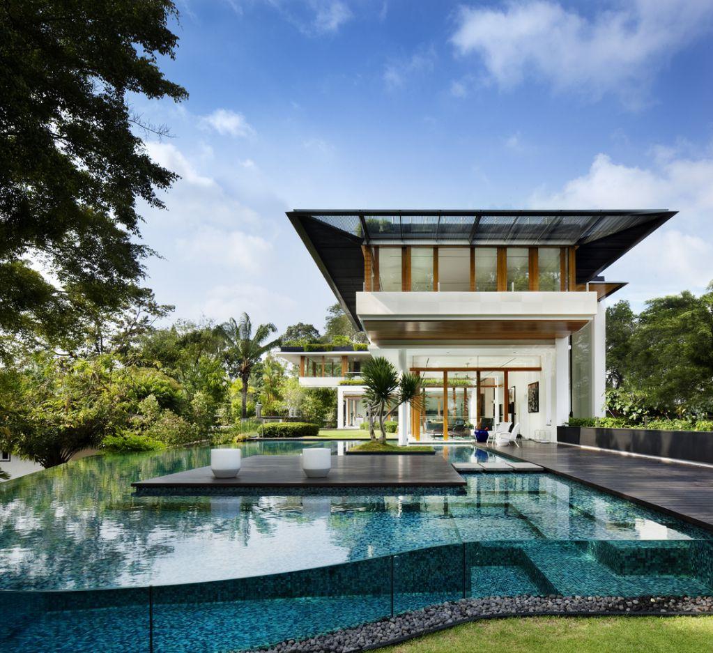 Thiết kế dự án có cây xanh và nước