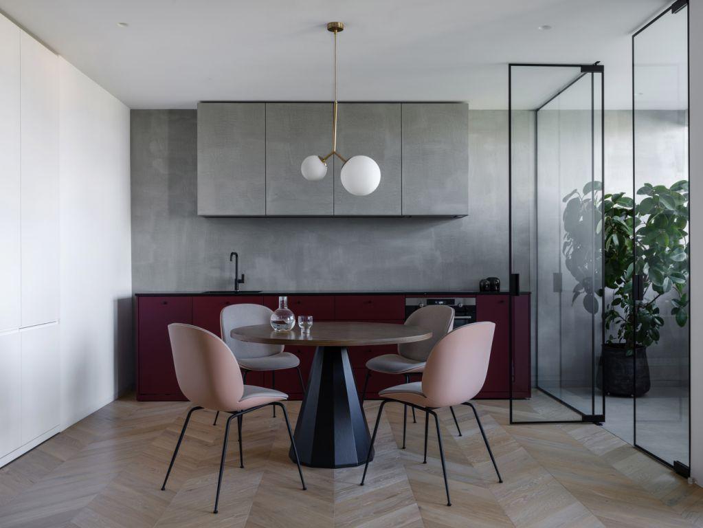Dự án thiết kế căn hộ Puce Apartment của Iya Turabelidze studio tại Ukraine