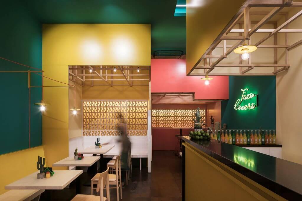 Dự án thiết kế quán cafe Sierra Madre Taco House của Erbalunga estudio