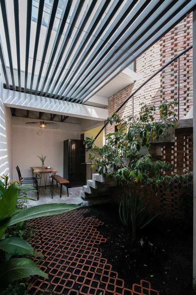 Thiết kế chắn tầm nhìn từ đường vào trong nhà