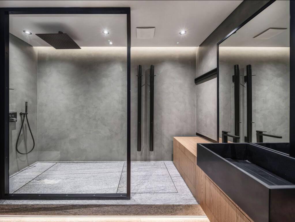 Thiết kế của phòng tắm cách âm