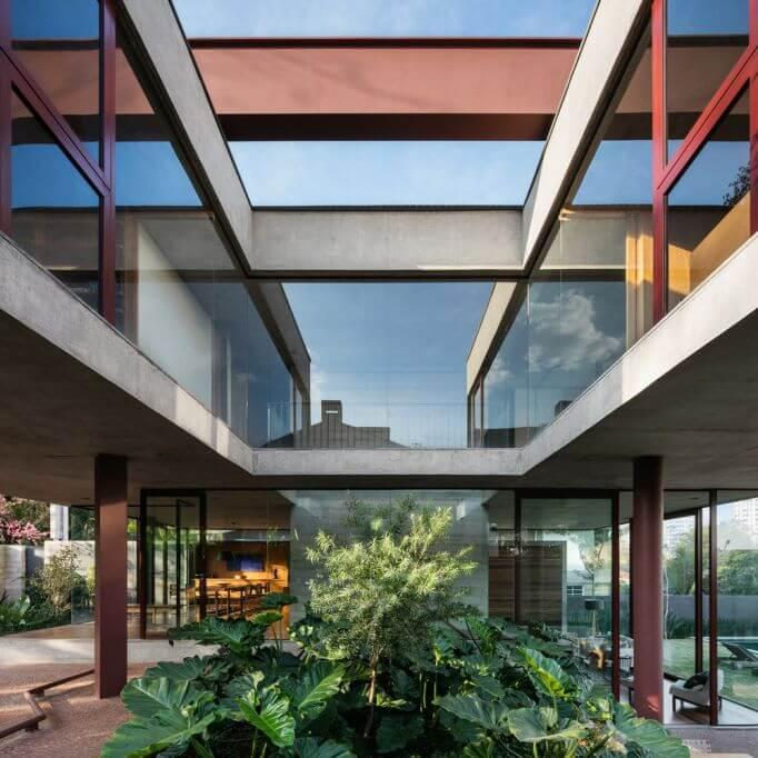 Dự án thiết kế House Villa Lobos của Una Arquitetos