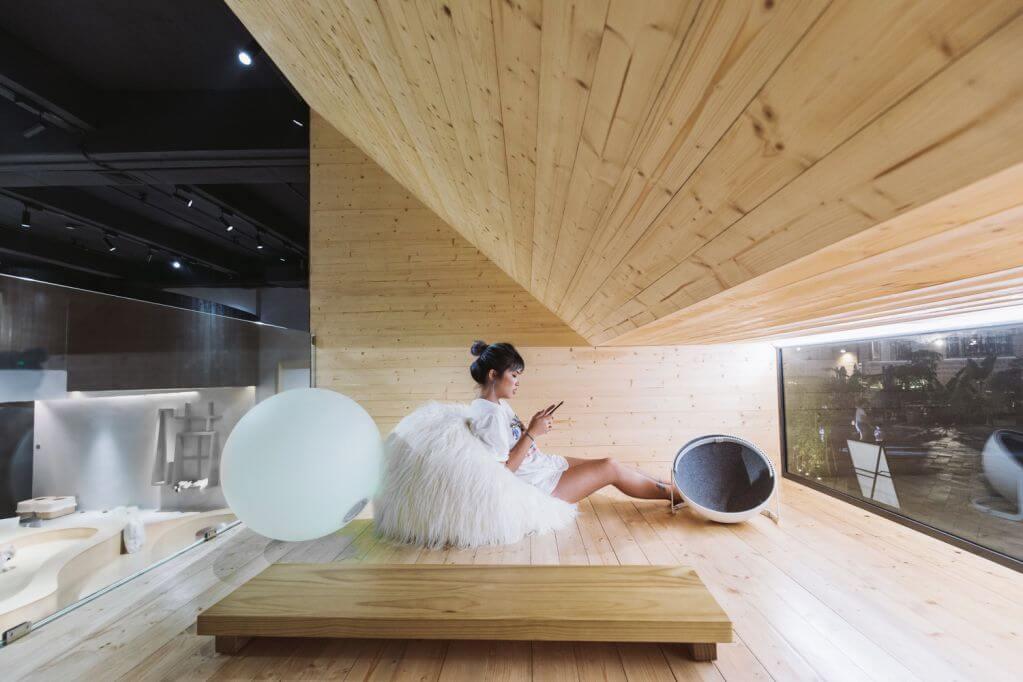 Thiết kế không gian tầng hai tự do và thư giãn