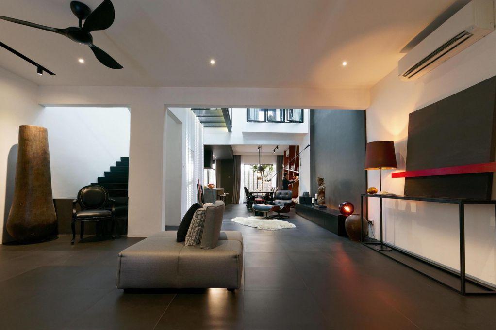 Thiết kế tầng trệt thể hiện được hết khái niệm không gian sống