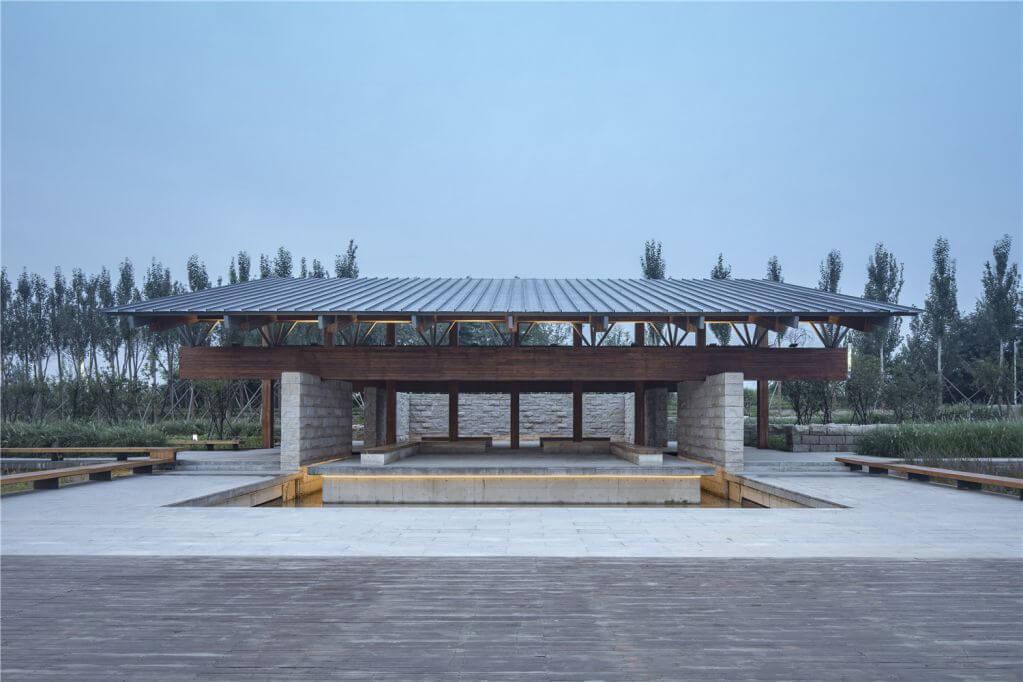 Cấu trúc mái bên trong dự án