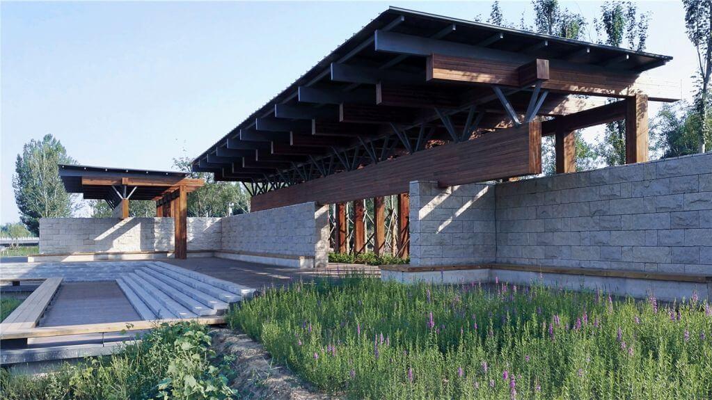 Dự án thiết kế cảnh quan Beam Pavilion của Yzscape tại Trung Quốc
