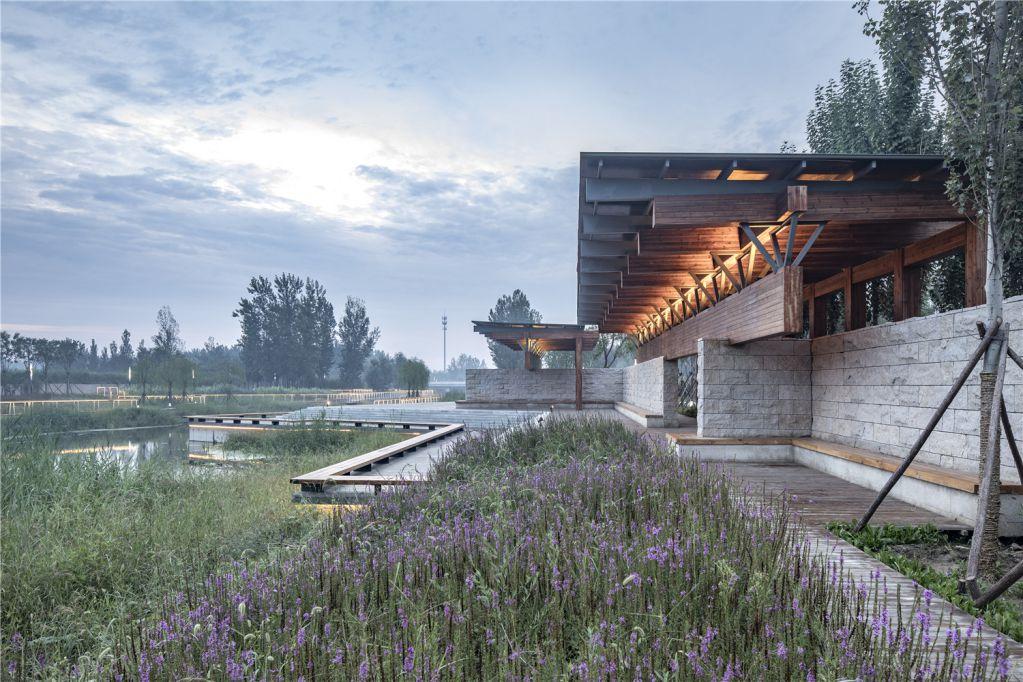 Dự án thiết kế nằm bên cạnh sông Guyang
