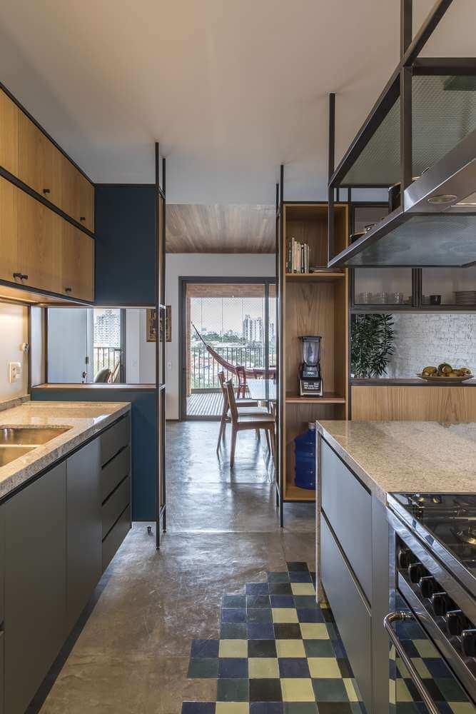 Gạch ốp lát được sử dụng cho sàn bếp