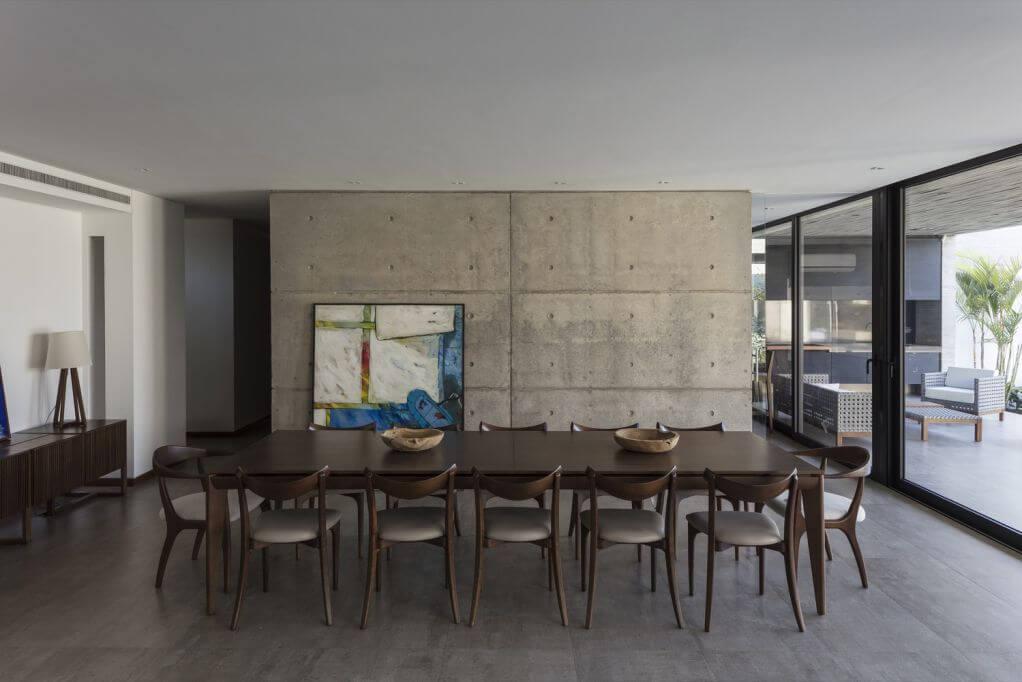 Nhà bếp và phòng khách được kết nối với nhau