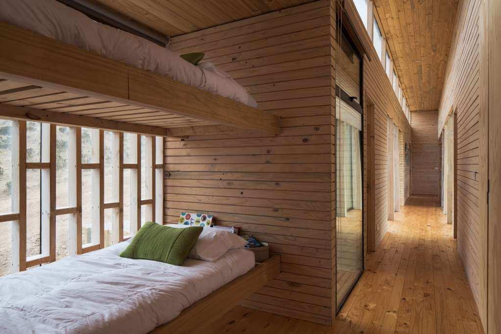 Cấu trúc gỗ được xuất hiện trong toàn bộ ngôi nhà