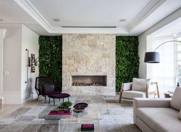 Mảng xanh tự nhiên được đưa trong trong thiết kế