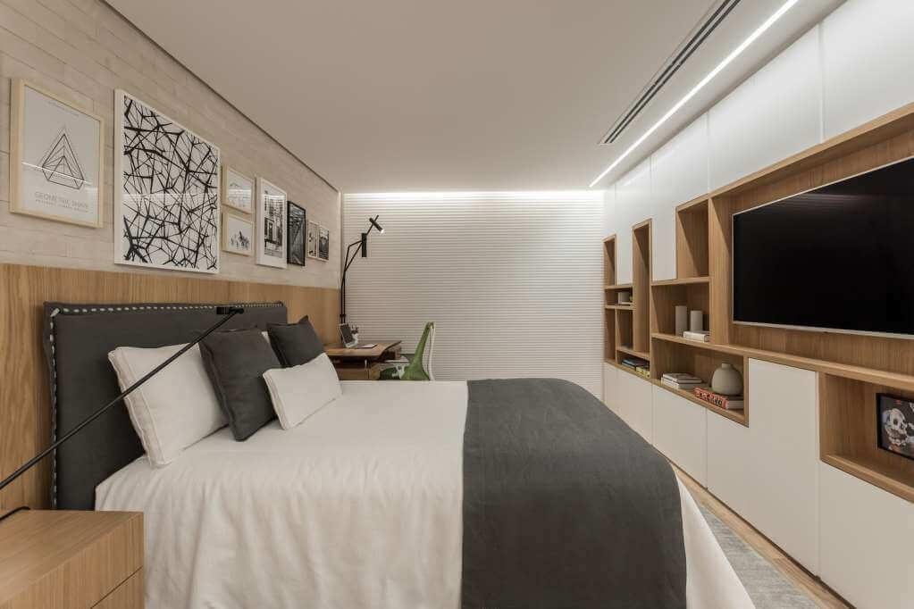 Thiết kế phòng ngủ với hệ thống chiếu sáng